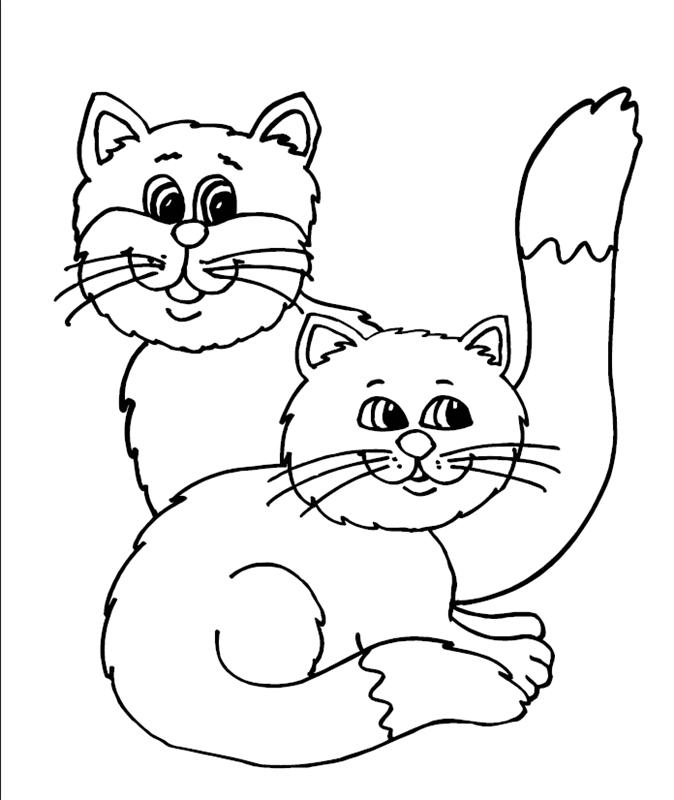 katzen00740 gratis malvorlage in katzen tiere  ausmalen
