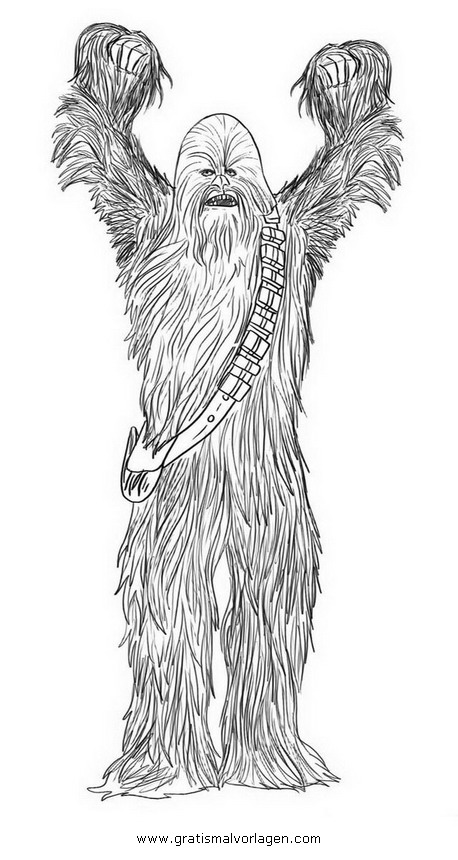 Chewbacca 03 Gratis Malvorlage In Science Fiction Star Wars Ausmalen