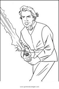 Luke Skywalker 02 Gratis Malvorlage In Science Fiction Star Wars
