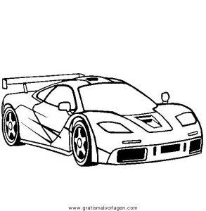 Mclaren F1 Gratis Malvorlage In Autos Transportmittel Ausmalen