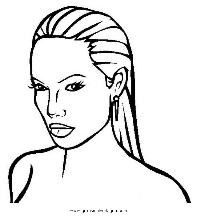 Angelina-jolie-2 Gratis Malvorlage In Beliebt09, Diverse