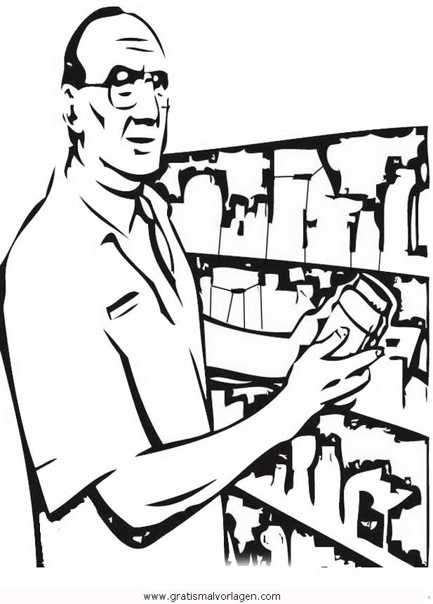 apotheke-4 gratis Malvorlage in Berufe Handwerk, Menschen - ausmalen