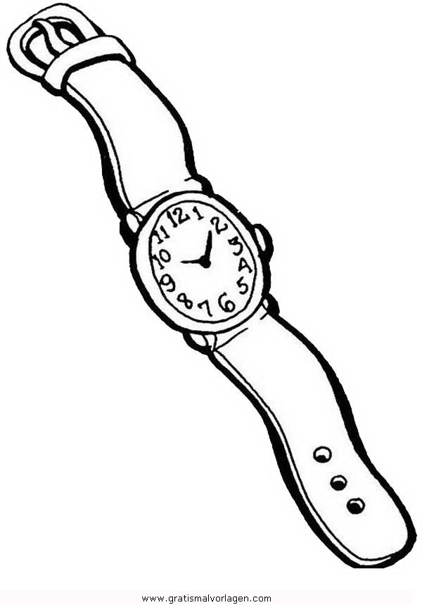 armbanduhr2 gratis malvorlage in diverse malvorlagen