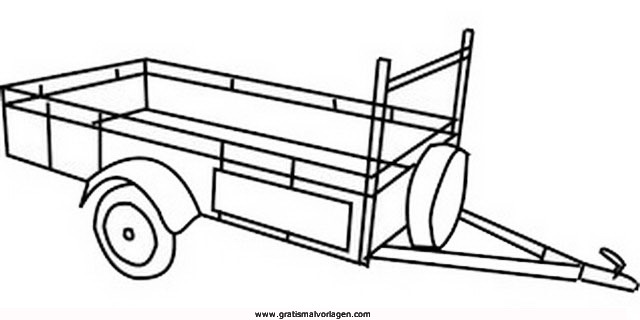 autoanhanger-3 gratis malvorlage in lastwagen