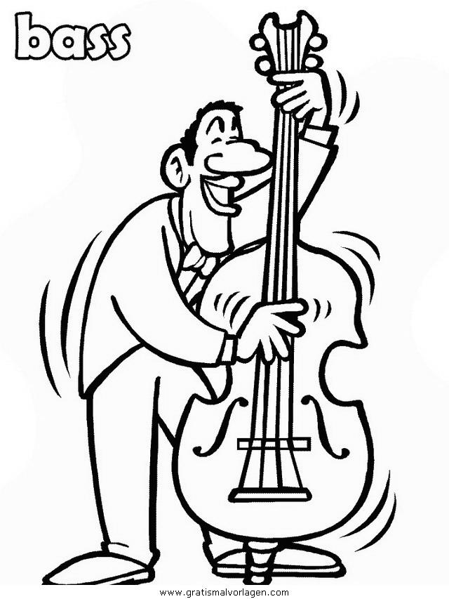 bass gratis malvorlage in diverse malvorlagen musik