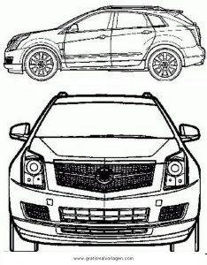 Cadillac Srx Gratis Malvorlage In Autos Transportmittel Ausmalen