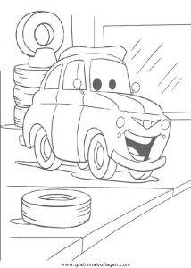 cars 70 gratis malvorlage in cars, comic  trickfilmfiguren - ausmalen