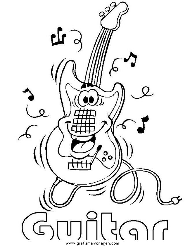 egitarre gratis malvorlage in diverse malvorlagen musik