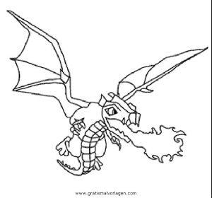 Malvorlage Clash of Clans clashofclans-dragon-001