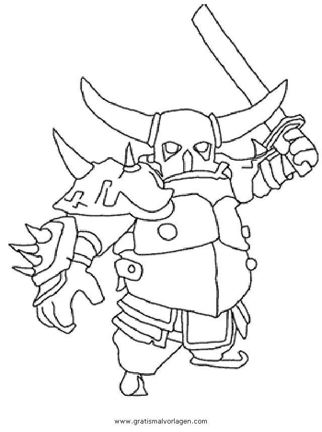 Clashofclans Pekka 002 Gratis Malvorlage In Clash Of Clans
