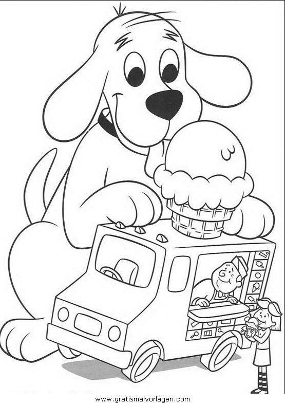 clifford der kleine rote hund02 gratis Malvorlage in Clifford, Comic ...