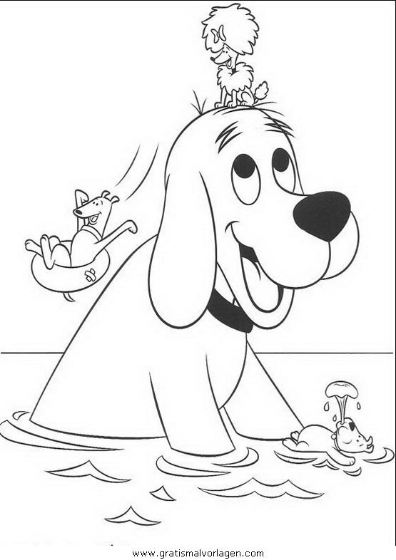 clifford der kleine rote hund03 gratis Malvorlage in Clifford, Comic ...