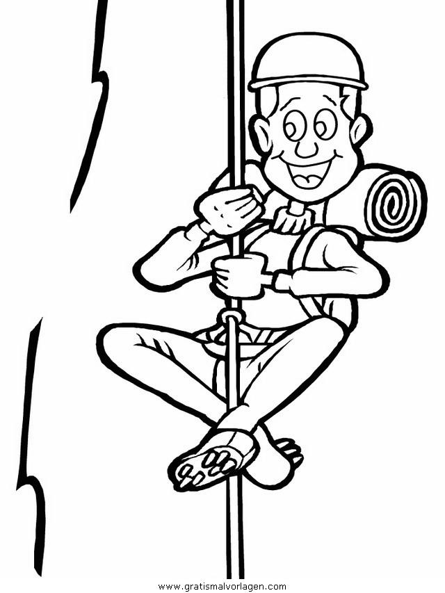 Kletterer Gratis Malvorlage In Sport Verschiedene Sportarten Ausmalen