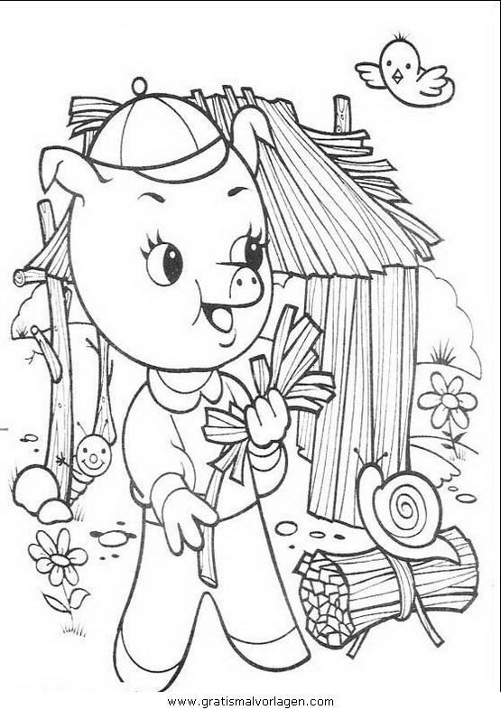 Rayman 11 Gratis Malvorlage In Comic Trickfilmfiguren: Die Drei Kleinen Schweinchen11 Gratis Malvorlage In Comic