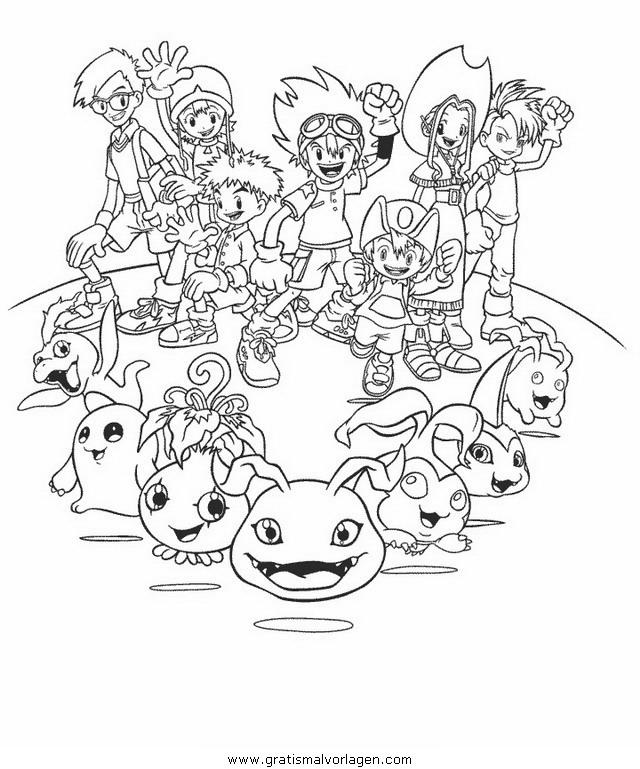 digimon 22 gratis malvorlage in comic  trickfilmfiguren