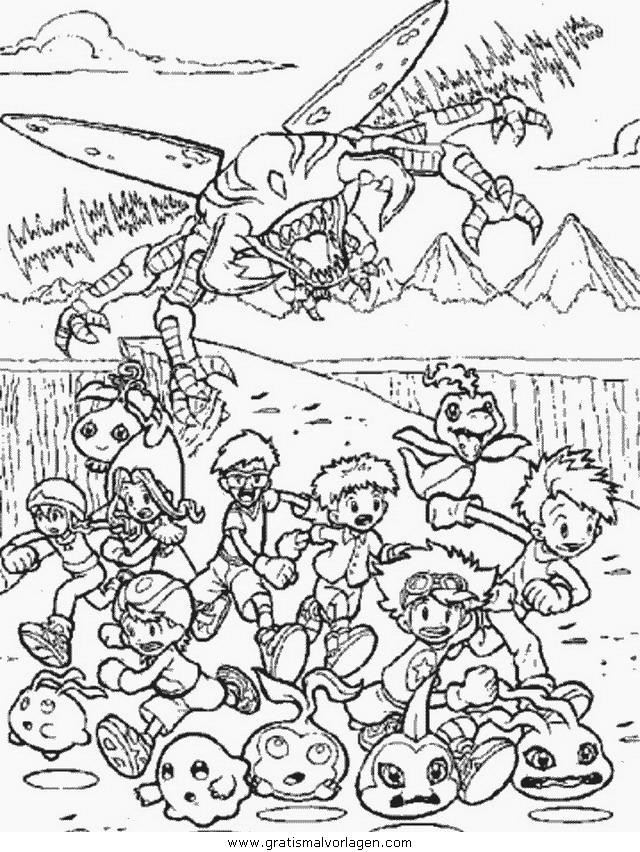 digimon 51 gratis malvorlage in comic  trickfilmfiguren
