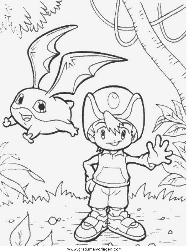 digimon 53 gratis malvorlage in comic  trickfilmfiguren