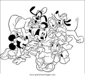 Disney Micky Maus 032 Gratis Malvorlage In Comic Trickfilmfiguren