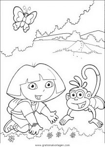 Malvorlage Dora dora 54