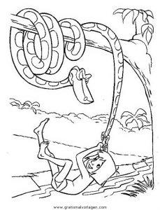 Dschungelbuch008 Gratis Malvorlage In Comic Trickfilmfiguren