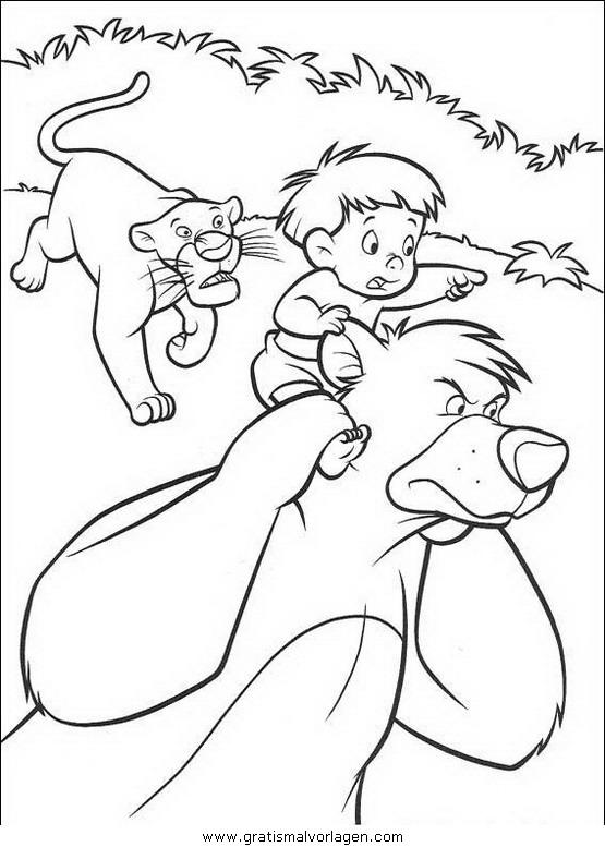 dschungelbuch ausmalbilder balu - kinder zeichnen und ausmalen