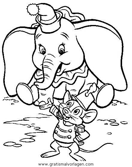 dumbo 25 gratis malvorlage in comic  trickfilmfiguren