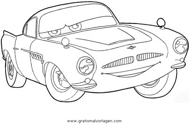 Finn Mcmissile 2 Gratis Malvorlage In Cars Comic Trickfilmfiguren