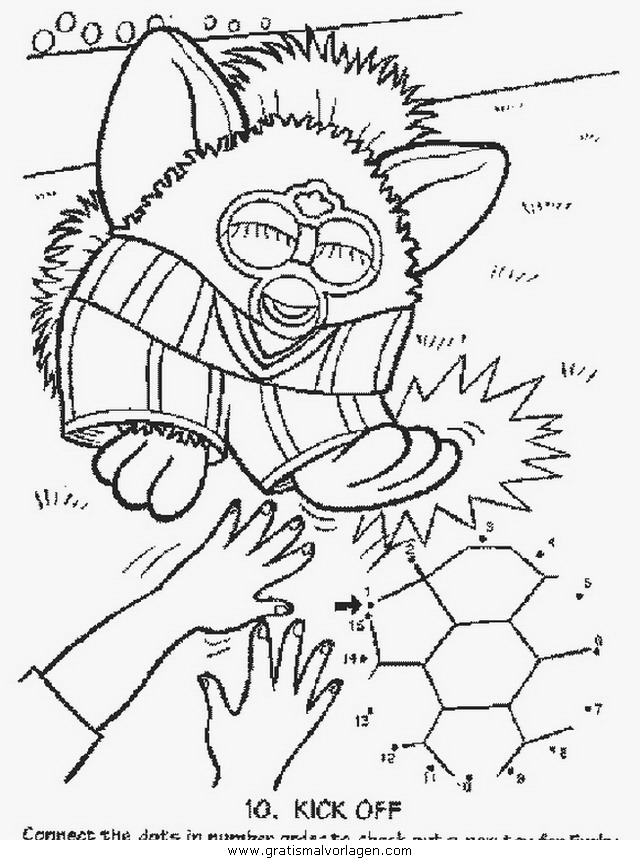 furby 11 gratis malvorlage in comic  trickfilmfiguren