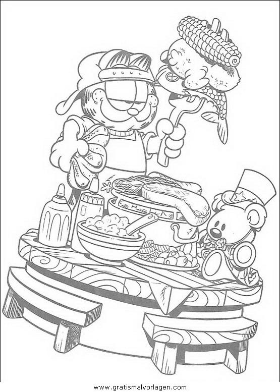 garfield 51 gratis malvorlage in comic  trickfilmfiguren