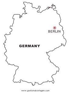 deutschland karte zum ausmalen Malvorlage Landkarte Deutschland | Coloring and Malvorlagan