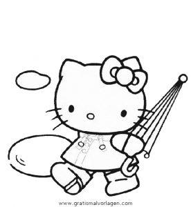 hallo kitty 17 gratis malvorlage in comic  trickfilmfiguren, hello kitty - ausmalen