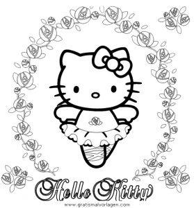 hallo kitty 20 gratis malvorlage in comic  trickfilmfiguren, hello kitty - ausmalen