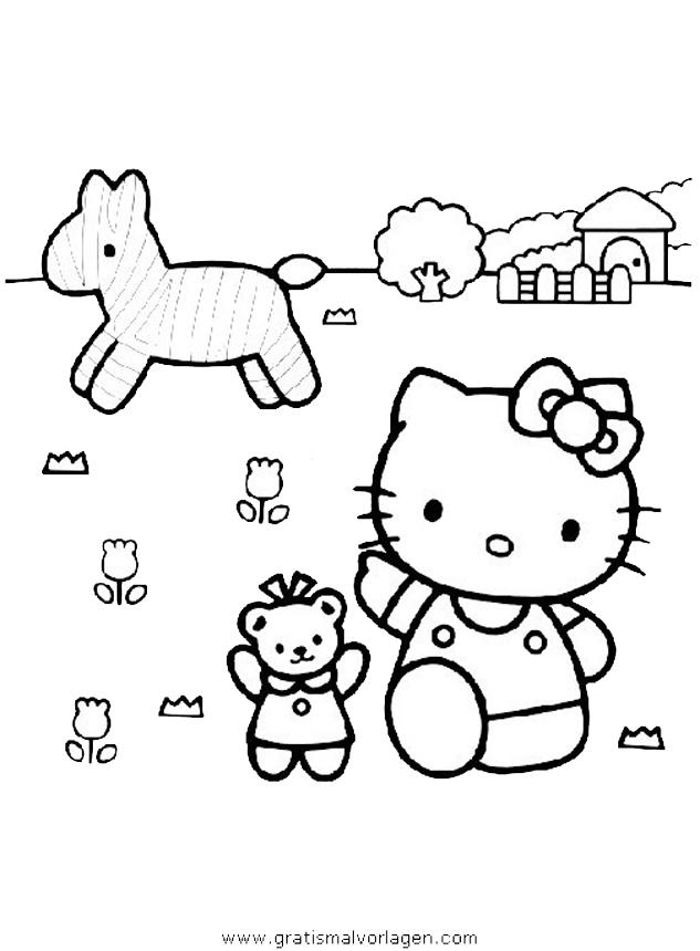 hallo kitty 21 gratis malvorlage in comic