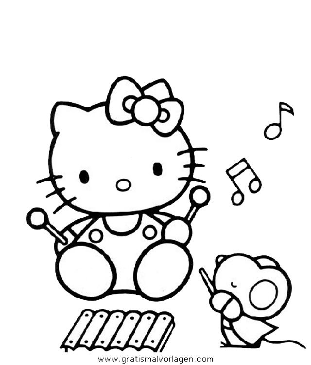 hallo kitty 22 gratis Malvorlage in Comic & Trickfilmfiguren, Hello ...