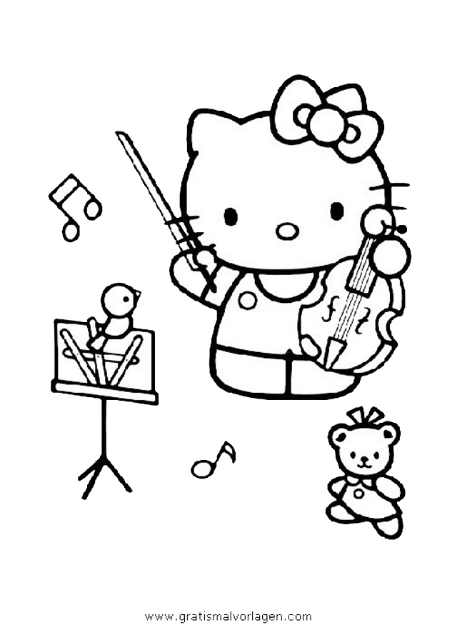 hallo kitty 24 gratis malvorlage in comic