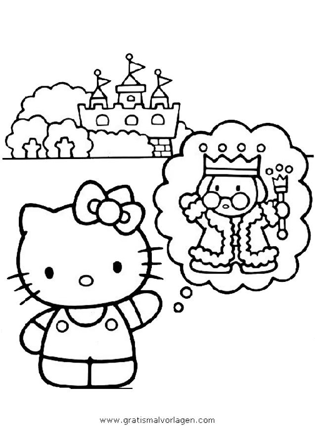hallo kitty 28 gratis malvorlage in comic