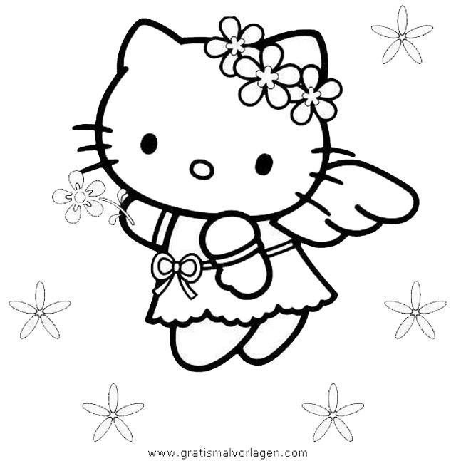 hallo kitty 33 gratis malvorlage in comic