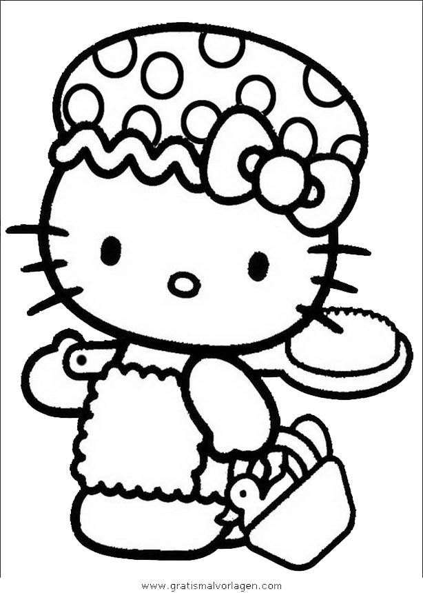 hello kitty 20 gratis Malvorlage in Comic & Trickfilmfiguren, Hello ...