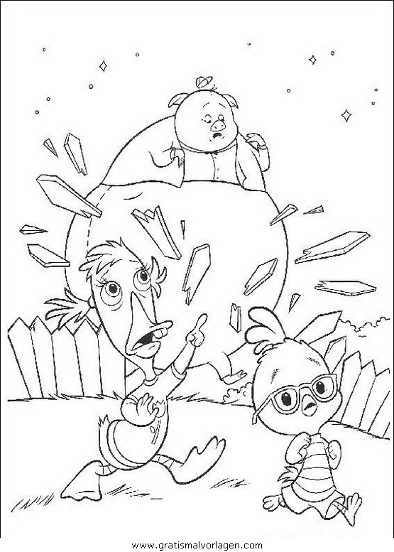 himmel und huhn 30 gratis malvorlage in comic