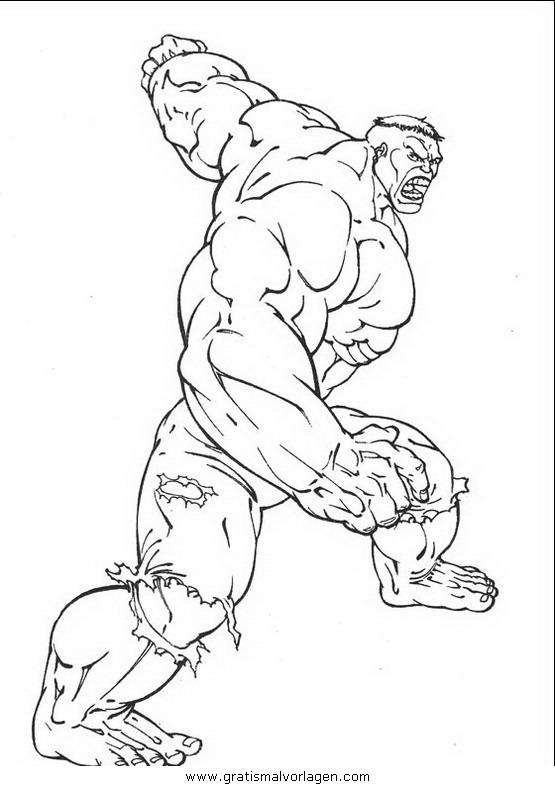 hulk 01 gratis malvorlage in comic  trickfilmfiguren