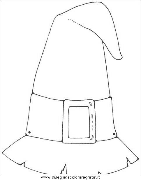 ausmalbild hexenhut  cartoonbild