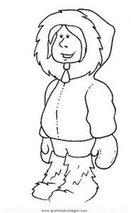 Malvorlage Beliebt13 inuit-5