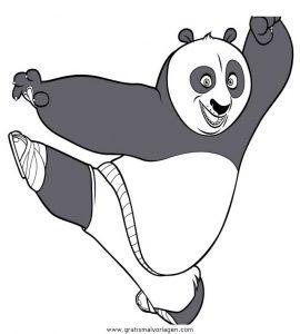 Kung Fu Panda 15 Gratis Malvorlage In Comic Trickfilmfiguren Kung