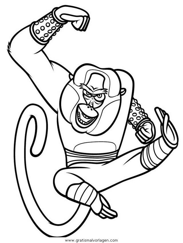 kung fu panda 24 gratis malvorlage in comic