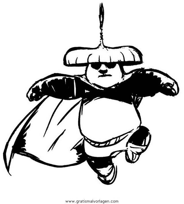 kung fu panda 35 gratis malvorlage in comic