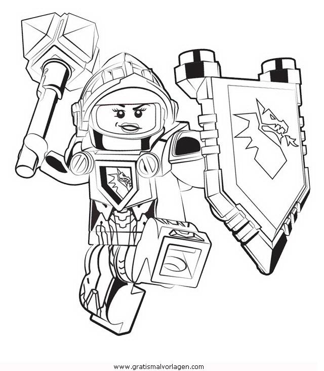 Ausmalbilder Ninjago Gesicht: Lego-nexo-knights-40 Gratis Malvorlage In Comic