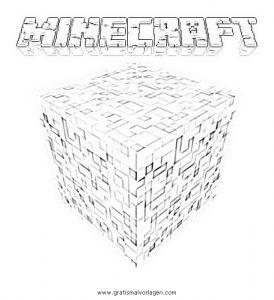 Minecraft Logo Gratis Malvorlage In Beliebt12 Diverse Malvorlagen