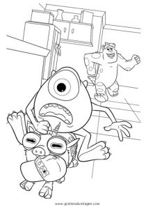 Malvorlage Monsters University monsters-university 11
