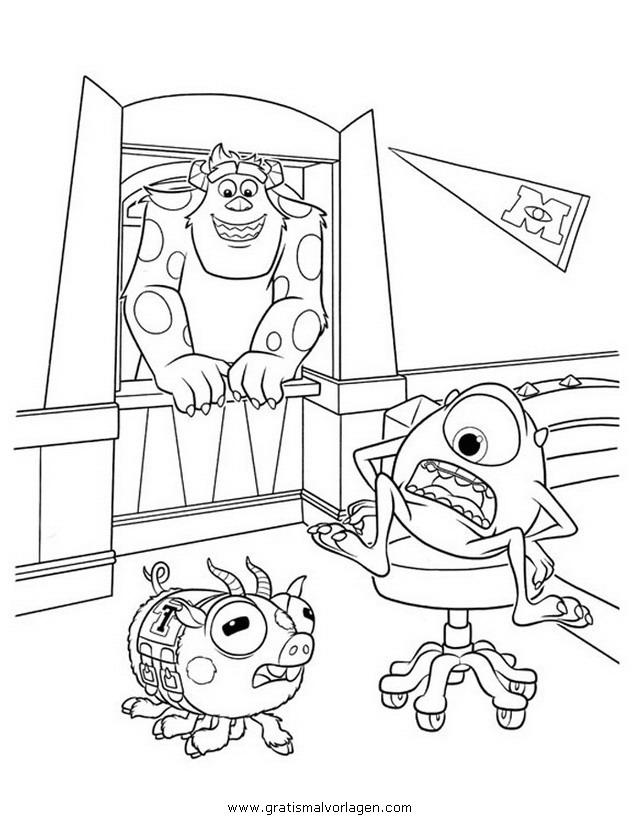 monstersuniversity 37 gratis malvorlage in comic