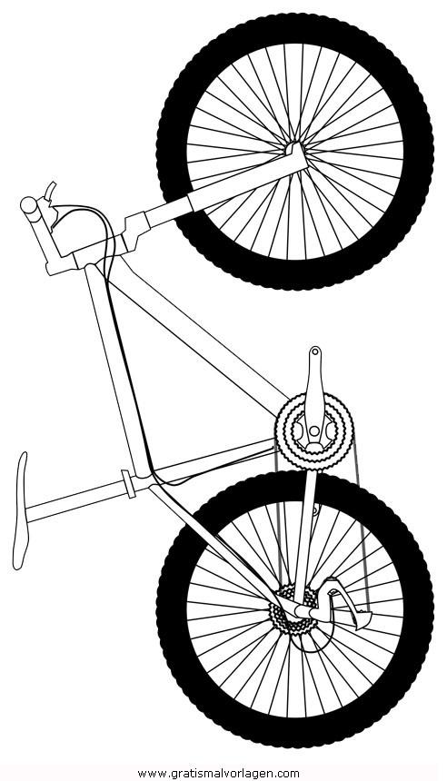 Mountainbike gratis Malvorlage in Sport, Verschiedene Sportarten ...
